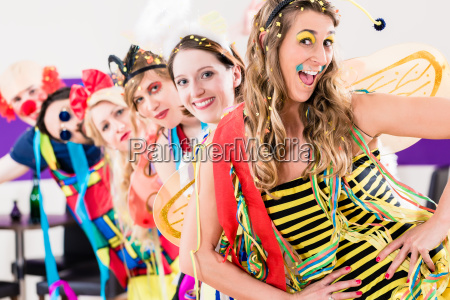 party people celebrating carnival or new