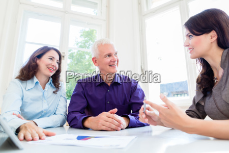 senior woman and man at retirement
