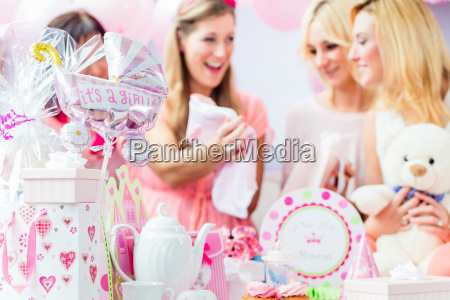 best friends on baby shower party