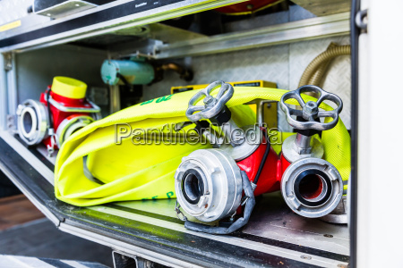 hoses in vehicle of german fire