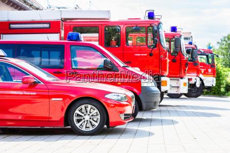 vehicle fleet of the voluntary fire