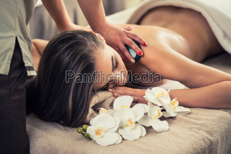 woman enjoying the therapeutic effects of