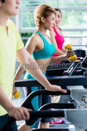 supervision of sportive people training on
