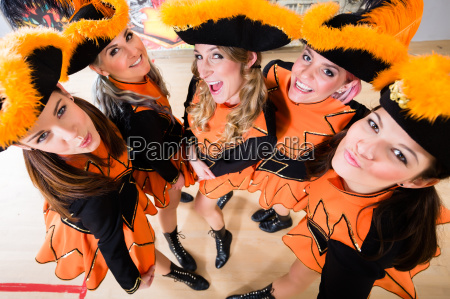 costumed girls with tricorns from carnival