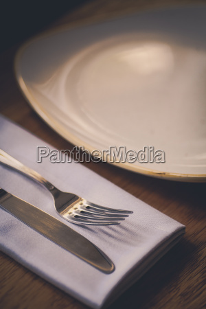 fork and knife on a table