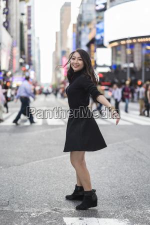 usa new york city manhattan happy