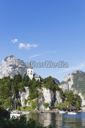austria upper austria salzkammergut traunkirchen lake