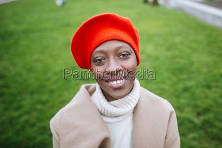 young woman in paris portrait