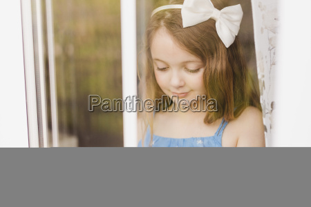 portrait of smiling girl with cut
