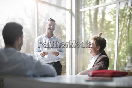 business people brainstorming in a team