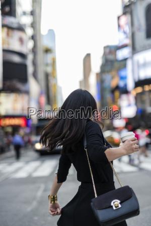 usa new york city manhattan back