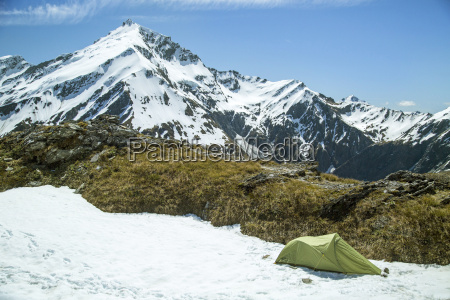 alpine camping on french ridge in