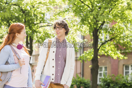 young male and female college students