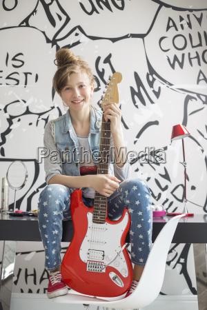 full length portrait of girl with