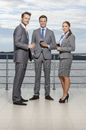 full length portrait of young businesspeople