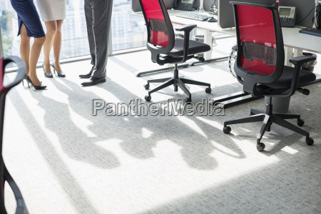 low section of businesspeople standing in