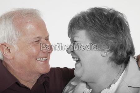 senior couple looking at each other
