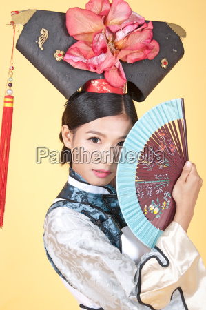 beautiful chinese woman wearing traditional outfit