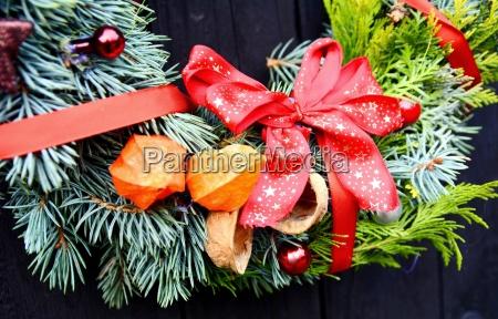 weihnachten dekorative kranz