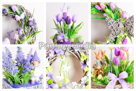 spring decoration collage