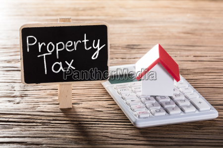 showing property tax concept
