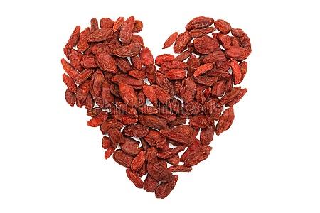 heart shape goji berries