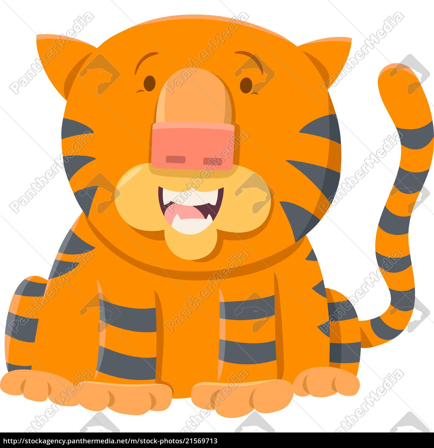 Lizenzfreie Vektorgrafik 21569713 Tiger Cartoon Tier Charakter