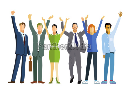 team of business people celebrate a