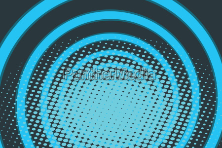 blue circle ring radio pop art