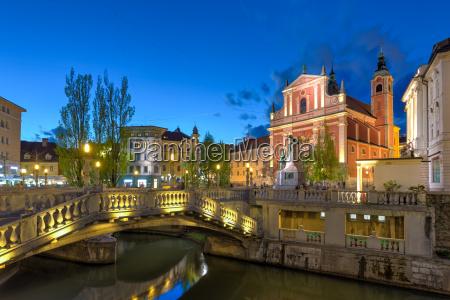 romantic medieval town of ljubljana slovenia