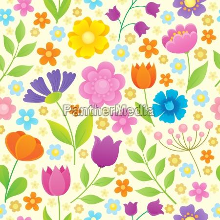 stylized flowers seamless background 4