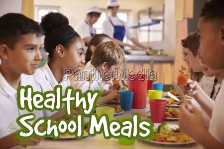 primary school children eat healthy school