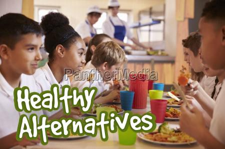 schulkinder essen gesunde alternative mahlzeiten