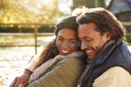 portrait of loving couple relaxing in