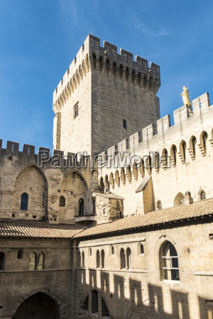 popes palace in avignon provence france