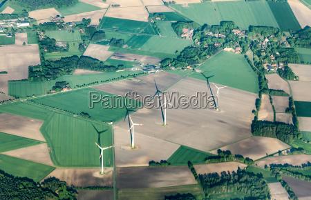 aerial of rural landscape near