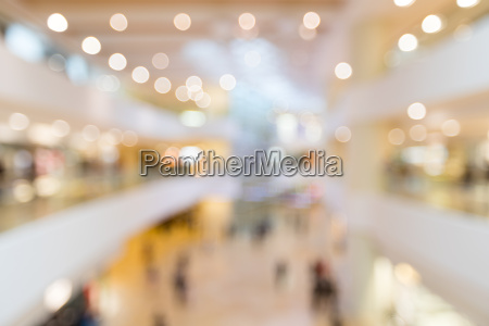 abstract blur shopping mall and retail