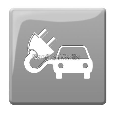 elektroauto symbolbutton