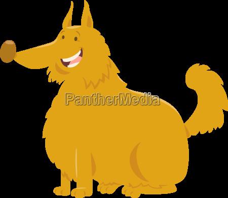 yellow shaggy dog cartoon