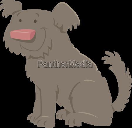 cute shaggy cartoon dog