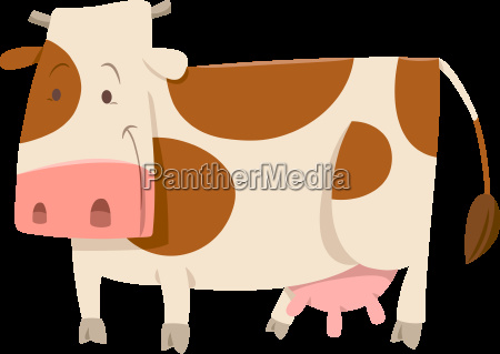 spotted cow cartoon animal