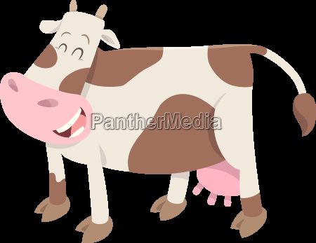 cute spotted cow farm animal