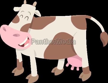 niedliches beschmutztes kuhbauerntier