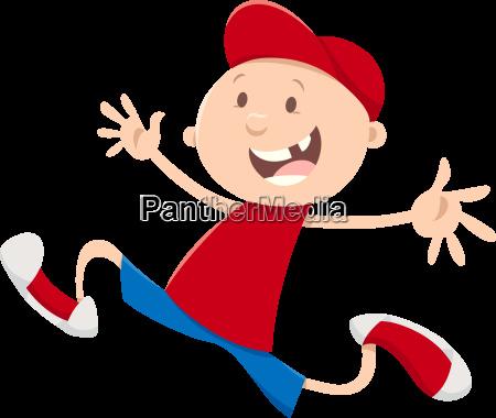 running snagle tooth boy