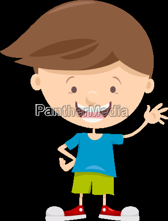 little boy cartoon character