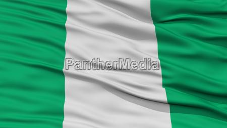 closeup nigeria flagge