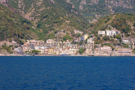 cetara town on amalfi coast in