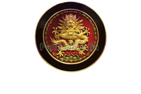 round golden dragon red color china