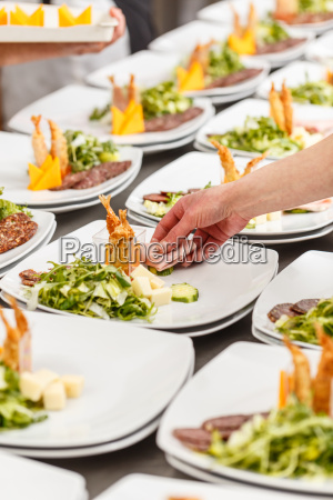 kochen garniert vorspeisenteller