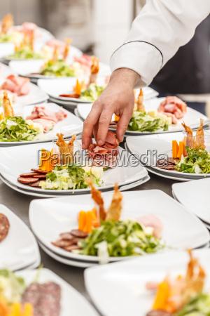 koch vorbereiten appetizer gerichte